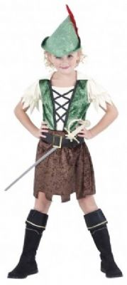 Girls Robin Hood Fancy Dress Costume